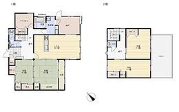 リフォーム後予定間取1階は洋室と和室をつなげてLDKへと間取り変更を行います。2階は広めの洋室二部屋に間取り変更予定です。
