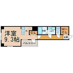 エイペックス名古屋鶴舞公園前[8階]の間取り