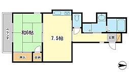 コーポラス神子岡[3階]の間取り