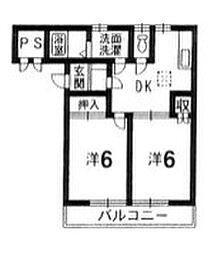 徳島県板野郡藍住町東中富字東傍示の賃貸アパートの間取り