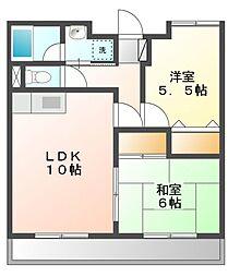 ガーデンコートM[1階]の間取り