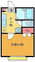 210アパートメントB棟[2階]の間取り