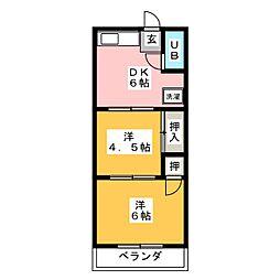 コーポ寺島[1階]の間取り