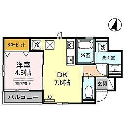埼玉県さいたま市大宮区大成町3丁目の賃貸アパートの間取り