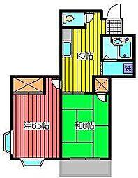 メゾンベレーゼ並木[1階]の間取り