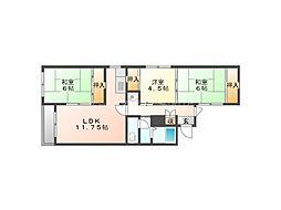 北海道札幌市東区北十七条東19丁目の賃貸マンションの間取り