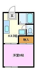 カネヨシハイツ[1階]の間取り