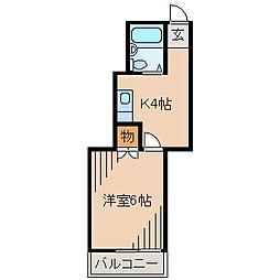 パールハイムB[2階]の間取り