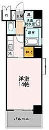 福岡市地下鉄空港線 天神駅 徒歩6分の賃貸マンション 2階1Kの間取り