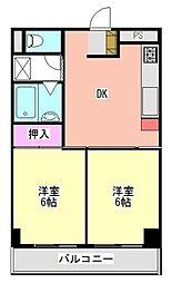 エステハイム大倉山[202号室]の間取り