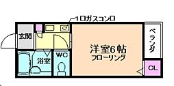 サニープレイス桜井[1階]の間取り