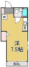 東京都品川区荏原6丁目の賃貸アパートの間取り