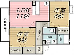 千葉県千葉市中央区都町の賃貸アパートの間取り