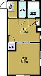 オカクママンション1号館[3階]の間取り