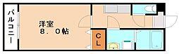 福岡県飯塚市有井の賃貸アパートの間取り