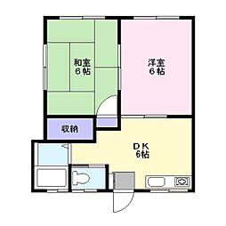 いさみハイツ[1階]の間取り