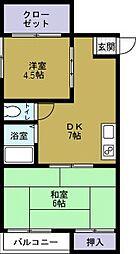 港晴しょみんハイツ[4階]の間取り