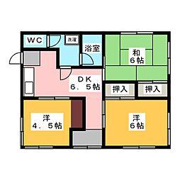 [一戸建] 静岡県富士宮市淀平町 の賃貸【/】の間取り