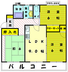 イーストガーデン2[3階]の間取り