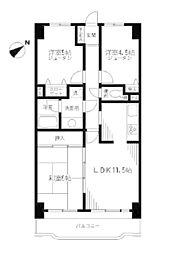 ライオンズマンション越谷南[4階]の間取り