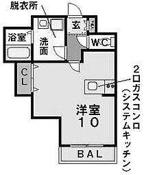 愛知県名古屋市昭和区松風町2丁目の賃貸マンションの間取り