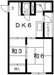 奥田マンション[3D号室号室]の間取り