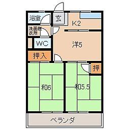 はりまやマンション[3階]の間取り