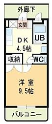 ハイランドマンション多田3号棟[1階]の間取り
