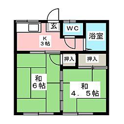 西村アパート[2階]の間取り