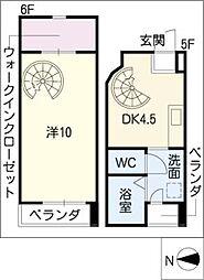 フロンティア新栄[6階]の間取り