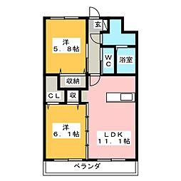 Y&Mガーネット[3階]の間取り