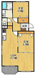 満池谷マンション[3階]の間取り
