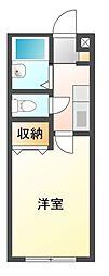 コーポ三山台[1階]の間取り