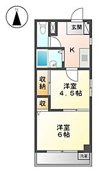 ラフォーレ21[3階]の間取り