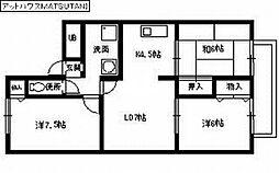アットハウスMATSUTANI II[2階]の間取り