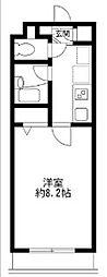 東京都調布市菊野台3丁目の賃貸マンションの間取り