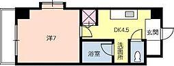 広島県東広島市西条土与丸1丁目の賃貸マンションの間取り