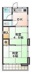 高城荘[2階]の間取り