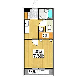 ラ・ヴィ松ヶ崎[202号室]の間取り