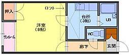 ピュア小坂1[105号室]の間取り