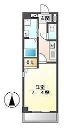 CRECER新栄[1階]の間取り