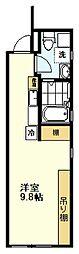 Giorno(ジオルノ) 3階ワンルームの間取り
