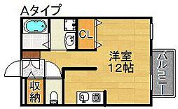 プレミールK住之江[1階]の間取り