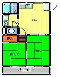 エデンI[2階]の間取り