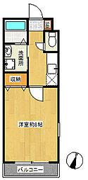 東京都北区豊島3丁目の賃貸アパートの間取り