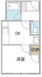 プライドタワー[1階]の間取り