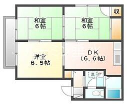 ヴィラソレイユC棟[2階]の間取り