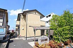 埼玉県草加市新善町の賃貸アパートの外観