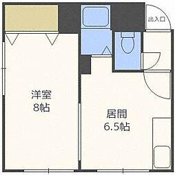 第6藤井ビルB[4階]の間取り