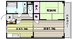 兵庫県神戸市東灘区御影本町6丁目の賃貸アパートの間取り